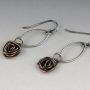 copper rose petal earrings 2