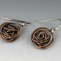 small copper rose earrings 2