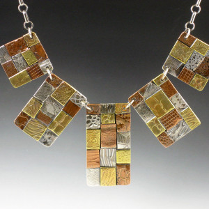 5 panel patchwork necklace 1