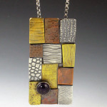 Patchwork Necklace with Amethyst 1