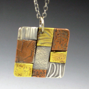 square patchwork necklace 2