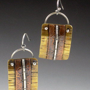 small mixed metal earrings 1