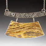 Petrified Wood Arch Necklace