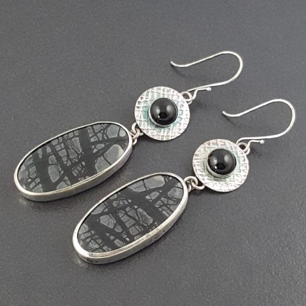 ocean collections sterling dangles grande earrings collection product artisan silversmith leaves mosaicsmith of silver images products jasper