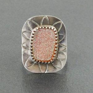 candy druzy ring
