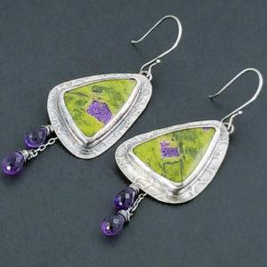 Atlantisite Amethyst Earrings