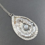 Occa Agate Druzy and Silver Moonstone Necklace